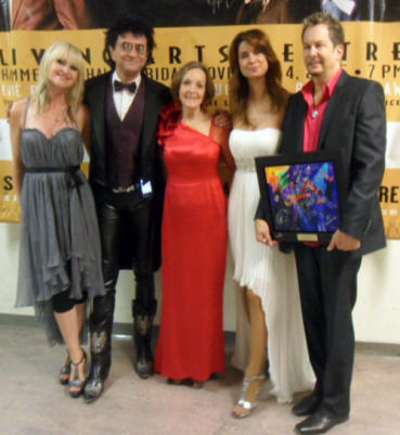 L-R at CSJA: Mindi Abair, Jim Peterik, Mary Kirk, Lisa Mac Clowry (Kathryn Howard)