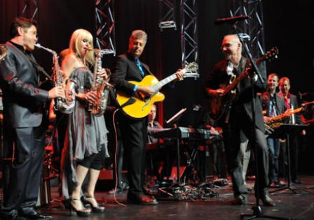 Onstage at Canadian Smooth Jazz Awards